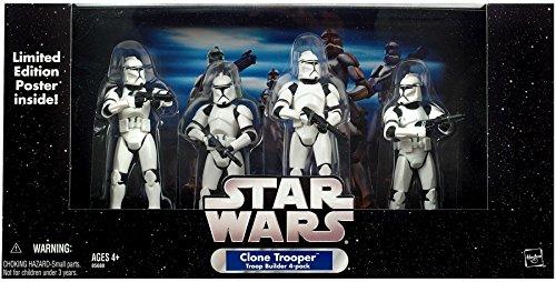 CLONE TROOPER Troop Builder 4 Pack WHITE Hasbro Toys 85777