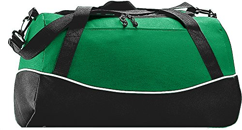 [Augusta Sportswear Tri-color Sport Bag OS Kelly/Black/White] (1910 Costumes)