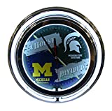Michigan State / Michigan NCAA 16'' Deluxe Neon Clock