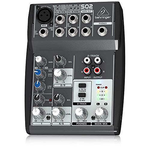 Xenyx 502 Premium 5-Input 2-Bus Mixer with XENYX Mic Preamp and British EQ by Behringer