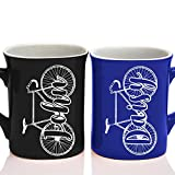 bicycle coffee mug - Personalized Couple Matching Coffee Mug - Free Laser Engraving - 7 different colors - Bicycle Coffee Mug