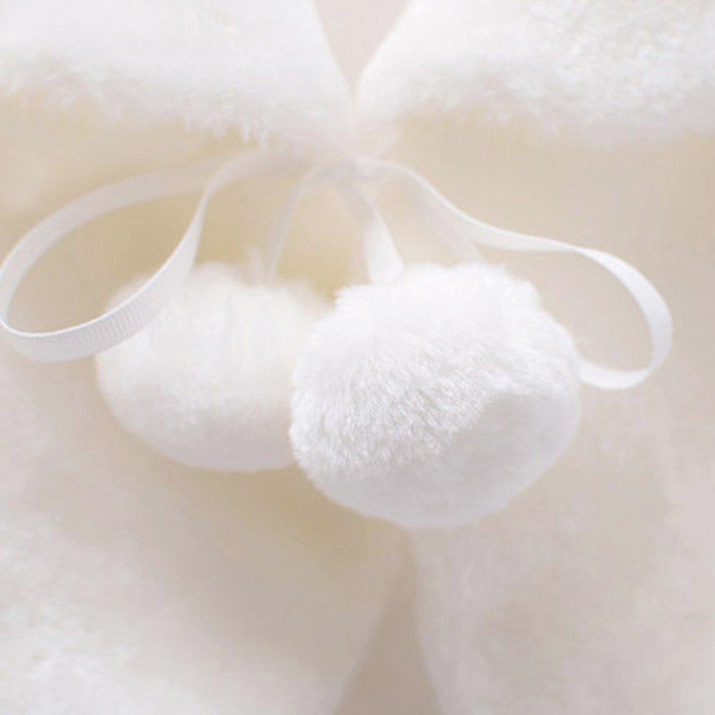 Genda 2Archer Princess Flower Girls Faux Fur Bolero Shrug Party Wedding Cape (White, 4-5 Years) by Genda 2Archer (Image #4)