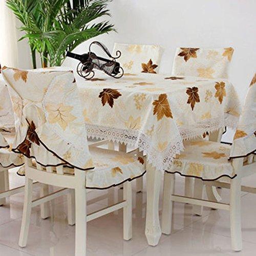 GBBD Tovaglie Cuscino Quadrato Pastorale Moda Tavolo Copertura della Sedia Panno Panno Tovaglia Panno Insiemi di Stoffa Semplice e Moderno Copertura Tavolo (Colore : A, Dimensioni : 3#)