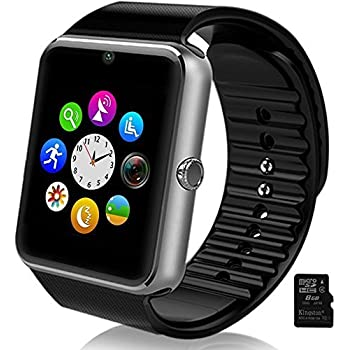 Smartlife Sweatproof Smart Watch Phone for iPhone 5s/6/6s and 4.2 Android or Above SmartPhones Include Micro SD Card