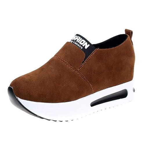 621b774d5 Zapatillas de Plataforma Cuña Deportivo para Mujer Primavera Verano PAOLIAN  Zapatos Escolares Running Aire Libre Exterior Señora Casual Calzado Piel ...