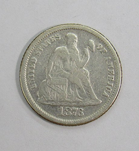 1876 S Seated Liberty Dime 10c Fine