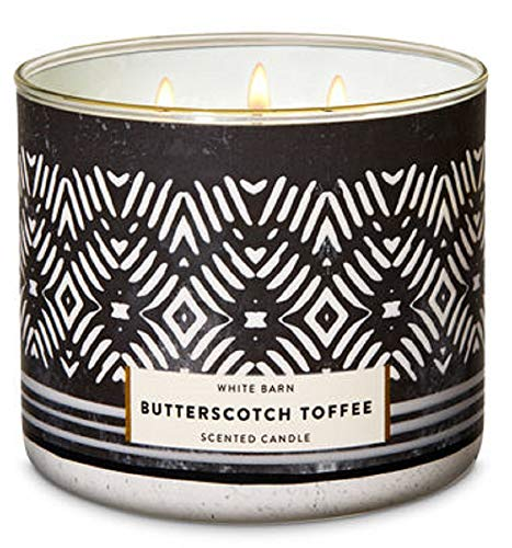 Butterscotch Toffee - Bath and Body Works 3 Wick Scented Candle Butterscotch Toffee 14.5 Ounce