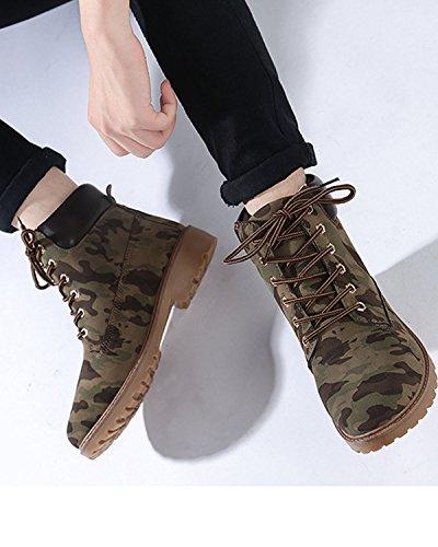 Femme Plein Minetom Air Lacets Bottines À Plateforme Chaussures Neige Hiver Randonnée Camouflage En De UUgtqSwz