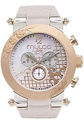 Mulco MW3-13403-113 Era Collection Beige Band and Swarovski Crystals