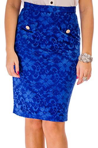 Cvb Real Azul Para Falda Mujer OnHO7w1Bq