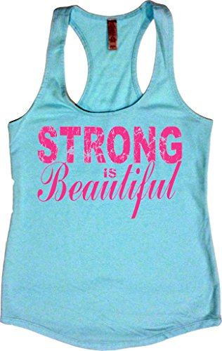 Orange Arrow Womens Strong Is Beautiful Racerback Tank  Medium  Cancun