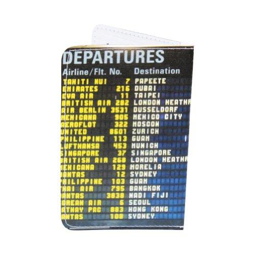 Kartenetui Flughafen Anzeigetafel für Visitenkarten, Ausweis und Kreditkarten