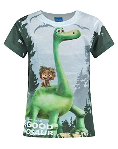 Price comparison product image Official The Good Dinosaur Arlo and Spot Sublimation Girl's T-Shirt (7-8 Years)
