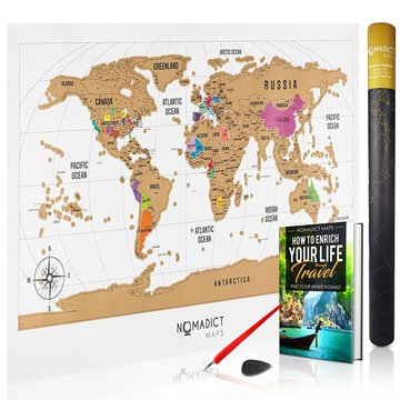 Desertcart oman nomadict maps buy nomadict maps products online deluxe scratch off world map colorful travel poster with global countries and us states track and share your adventures includes bonus precision pen gumiabroncs Image collections
