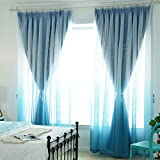 dark grey curtains pencil pleat Nclon Curtains,Hollow Stars Blackout Blind Voile Pencil Pleat Thermal Insulated Reduce External Noise Prevent Uv Ray Bedroom Curtains Eco-friendly Wear-resisting