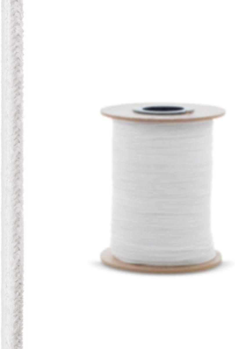 6x6 mm 2 m con Adhesivo de Montaje T/érmico Sellado Resistente a Temperaturas hasta 1260/°C STEIGNER Cord/ón de Sellado Ceramico SKD01-6