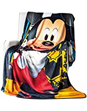 EXPRESSIONS Kid's Throw Blanket Disney Mickey Mouse Fleece Blanket for Toddlers Teens, All Seasons Super Comfy Flannel Blanket, Best Gifts for Boys and Girls, 60x80 inches (Official Disney Product)
