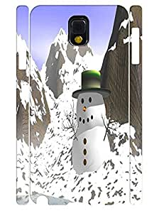 Creative Funky Snowman Pattern Handmade Cell Phone Back Case for Samsung Galaxy Note 3 N9005