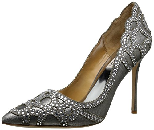 Badgley Mischka Womens Rouge Ii Dress Pump Pewter