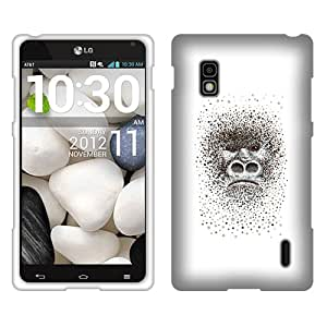 Fincibo (TM) Protector Cover Case Snap On Hard Plastic Front And Back For LG Optimus G E970 - The Gorilla Portrait