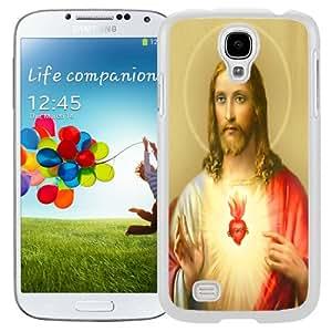 Fashion Custom Designed Cover Case For Samsung Galaxy S4 I9500 i337 M919 i545 r970 l720 Jesus White Phone Case