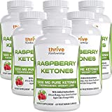Thrive Naturals Raspberry Ketones - Thermogenic Weight Loss Support - Extra Strength 1200 mg Daily Dose - 60 Capsules (6 Pack)