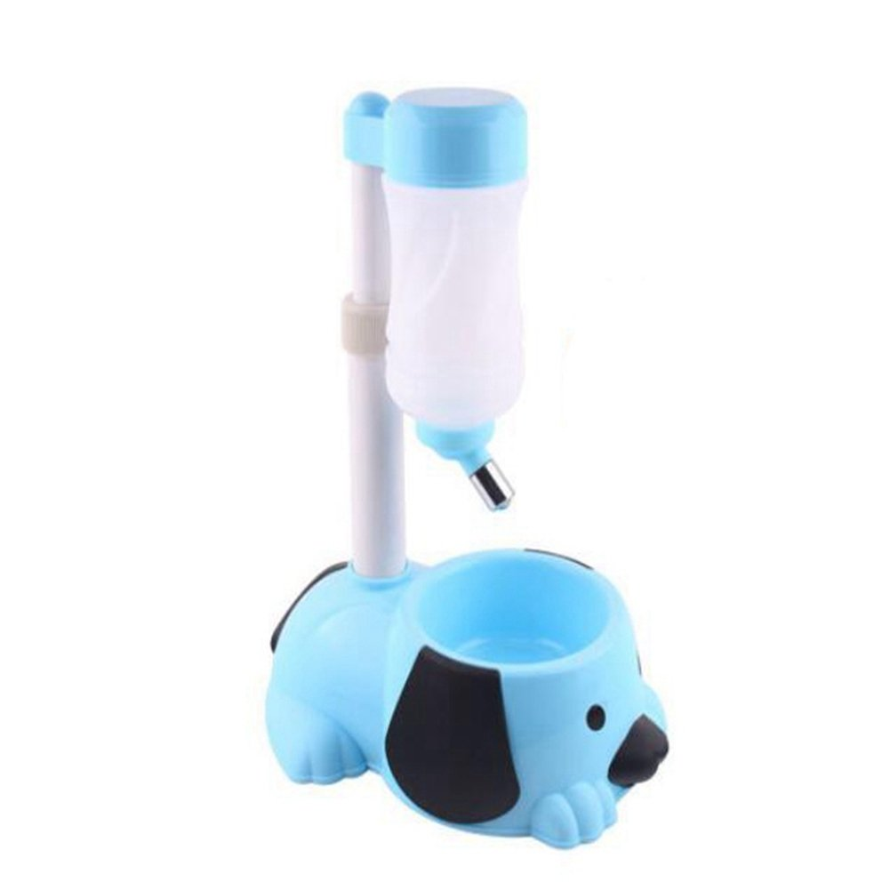 WW Pet Automatic Waterer Hanging Water Bottle Liftable Cat Dog Standing Water Dispenser Automatically Feeding Water Height Adjustable,Blue by CW&T (Image #4)