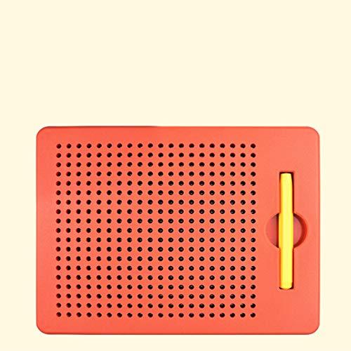 RaiFu 製図板 子供 教育おもちゃ 磁気 描画ボード 書き込み スチールボール ライティング ボード レッド