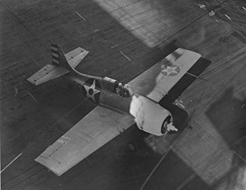 (Home Comforts Laminated Poster A U.S. Navy Grumman F4F-3 Wildcat from Fighting Squadron 6 (VF-6) Taking Off from The Aircraft Carri)