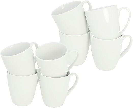 com-four® Taza de café de porcelana 9x99 8x, 300 ml, taza de café ...
