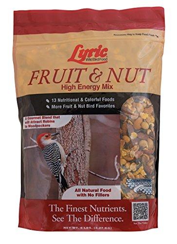 Lb Bird Wild Food 20 (Lyric Fruit & Nut High Energy Wild Bird Mix - 5 lb. bag)