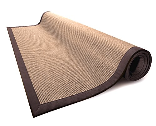 (casa pura Sisal Rug   100% Natural Fiber Area Rug   Non-Skid Eco-Friendly Throw Carpet for Entryway, Dining or Living Room and Sizes   Cork - 4'x6')