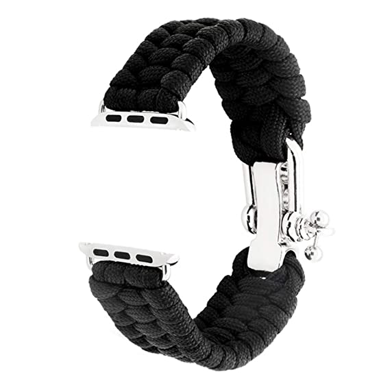 KAI Top Nylon Rope Weave Wristband Compatible with Apple Watch Band 42mm  38mm, Outdoor Survival Paracord Replacement for Apple Watch Series 3/2/1