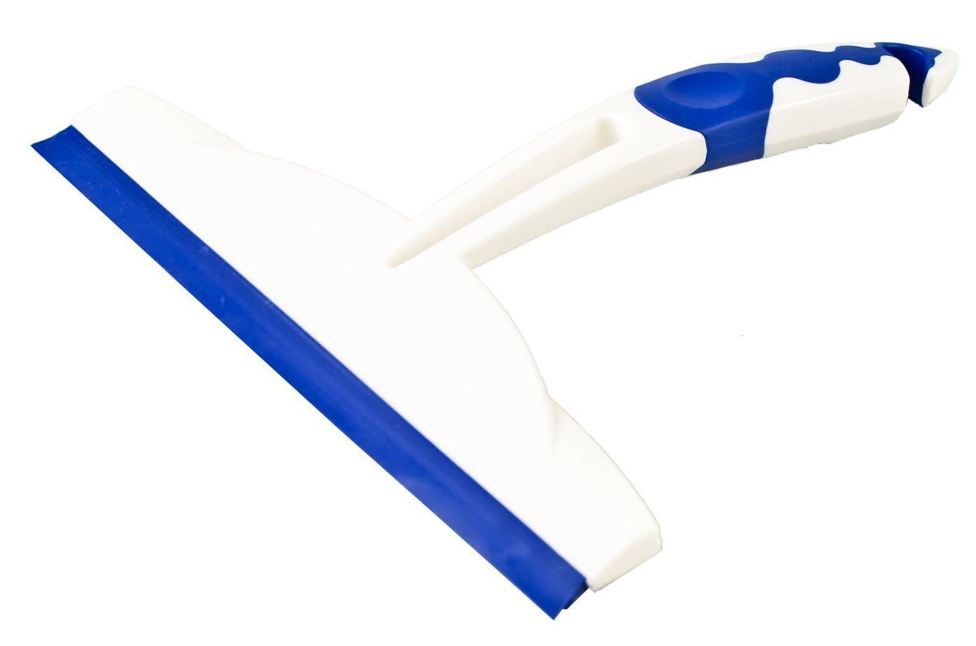 20/x 20/x 2,5/cm /Extractor Ventana//Puerta de Ducha Centini / Color Blanco//Azul TPE Mango de 2/K Doble Campana Labio