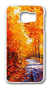 Brian114 Case, S6 Case, Samsung Galaxy S6 Case Cover, Fall Painting 3 Retro Protective Hard PC Back Case for S6 ( white )