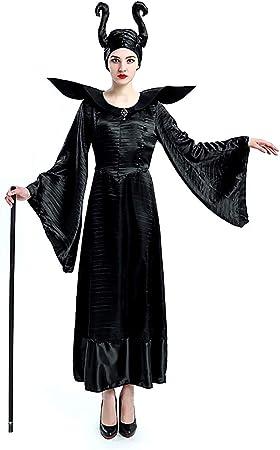 Disfraz de bruja malvada - maléfica - maléfica - bella durmiente - mujer - disfraz - carnaval - halloween - niña - accesorios - talla xl - idea original de regalo de cumpleaños de navidad: Amazon.es: Juguetes y juegos