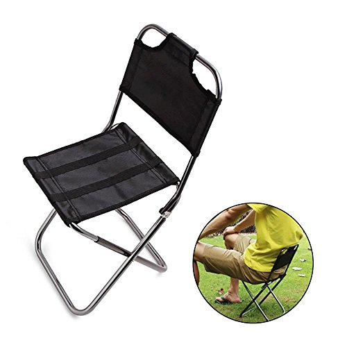 Aolvo Tiny Folding Collapsible Chair, Mini Folding Camp Chair Lightweight...