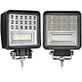 LED Pods, Swatow Industries 2PCS 4Inch Spot Flood Combo Diffused Square LED Work Lights Off Road LED Cubes LED Driving Lights for Truck 4x4 Tractor Heavy Duty UTV ATV Boat - 2 Yr Warranty