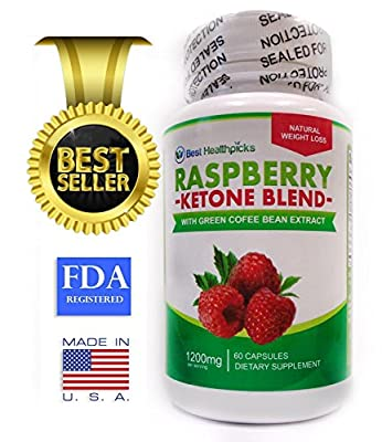 Raspberry Ketone Blend, Best Natural Weight Loss Supplement, Appetite Control Suppressant Diet Pills for Men and Women Great Weight Loss Formula 60 1200 Mg Double Strength Fat Burner Capsules, Green Tea & Caffeine, Very Easy to Take - Best Seller, Enhance