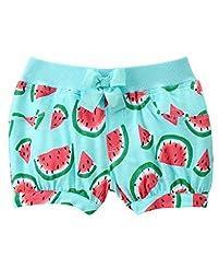 Gymboree Baby Toddler Girls\' Watermelon Print Knit Bubble Short, Aqua Spray, 4T