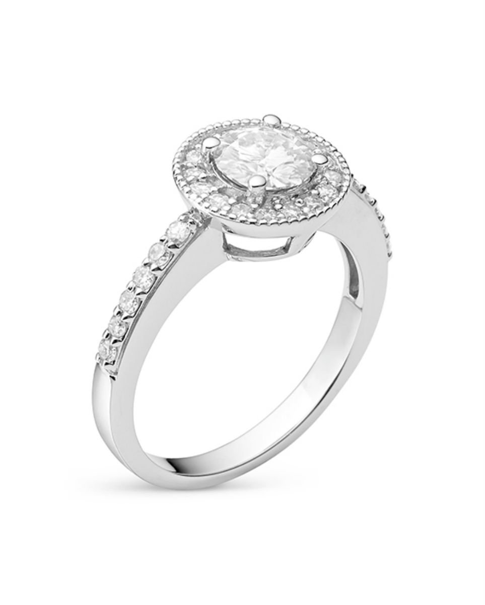 Forever Classic Round 6.0mm Moissanite Engagement Ring-size 6, 1.08cttw DEW By Charles & Colvard by Charles & Colvard (Image #2)