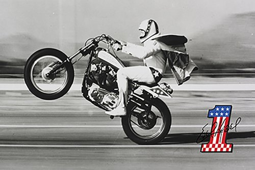 Poster Service Evel Knievel Wheelie Poster, 24-Inch by 36-Inch ()