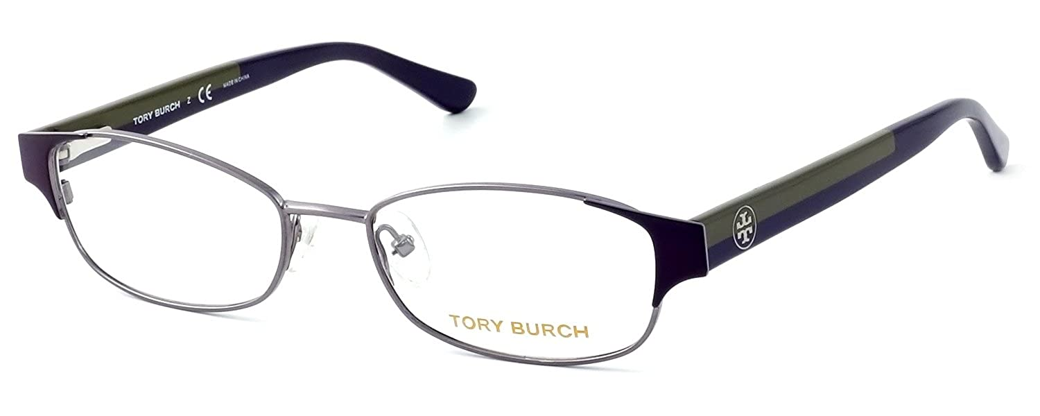 55b7b4f8a9 TORY BURCH Eyeglasses TY 1037 3004 Plum Gunmetal 50MM at Amazon Women s  Clothing store