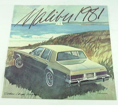 1981 81 Chevrolet Chevy MALIBU CLASSIC BROCHURE