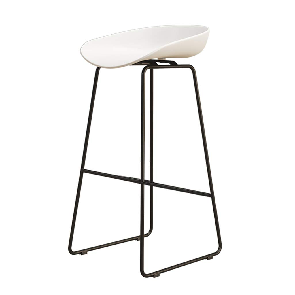 White 65cm DingHome-ca Barstools - Wrought Iron Simple Fashion Breakfast High Chair Creative Bar Stool gold Kitchen Bar Counter