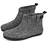 BureBure Warm Wool Ankle Bootie Slippers for Men Handmade in Europe