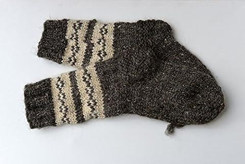 VERY THICK Winter Socks for Women Men Ski Sheep Wool Handmade Knitted Knit Warm Bed Boots Climbing Trekking Hiking Heavy Sturdy