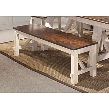 Excellent Amazon Com Bernards Winslow Farmhouse Cherry Dining Bench Pabps2019 Chair Design Images Pabps2019Com