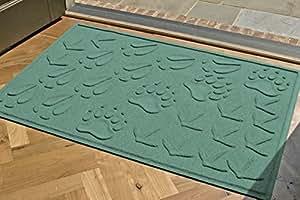 Aqua Shield Animal Tracks Mat, 34 by 52-Inch, Aquamarine