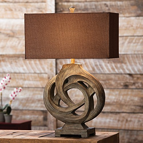 Black Forest Decor Infinity Branch Cabin Table Lamp for sale  Delivered anywhere in USA